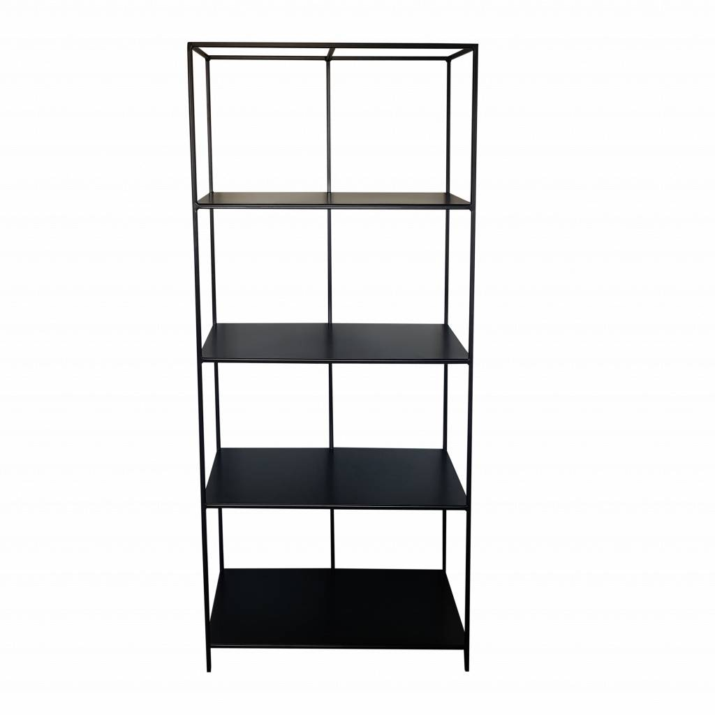 Stoer Metaal iron cabinet shelving unit Line, black