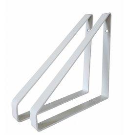 Stoer Metaal ijzeren plankdragers,  wit