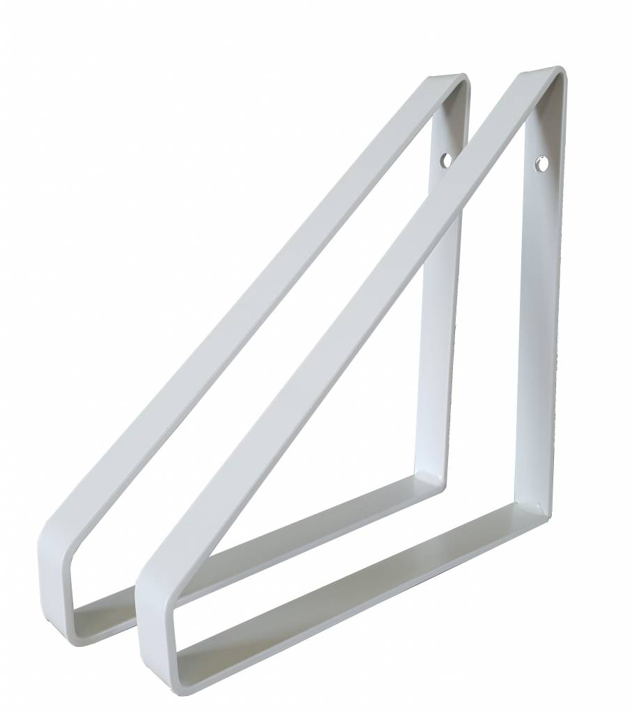 Stoer Metaal iron shelf supports, white