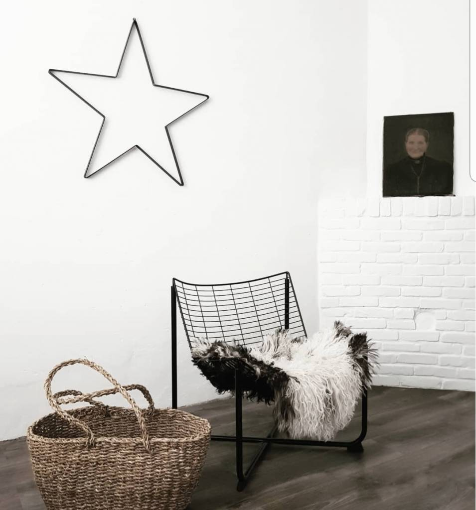 Stoer Metaal iron star, metal star for decoration
