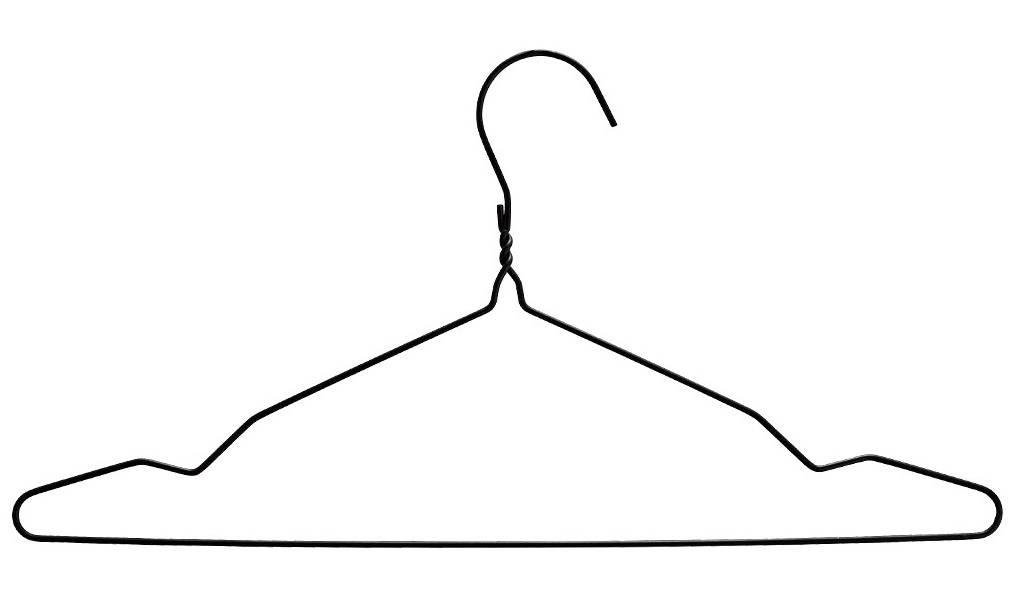 Madam Stoltz kledinghanger draad, zwart