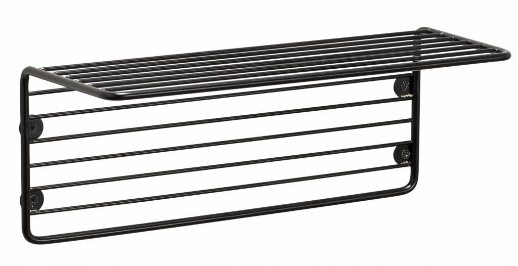 Hübsch wall shelf wire, black