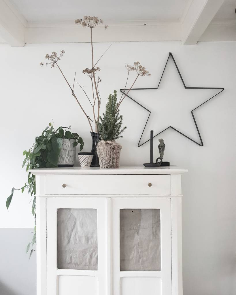 Stoer Metaal ijzeren ster, metalen ster ter decoratie