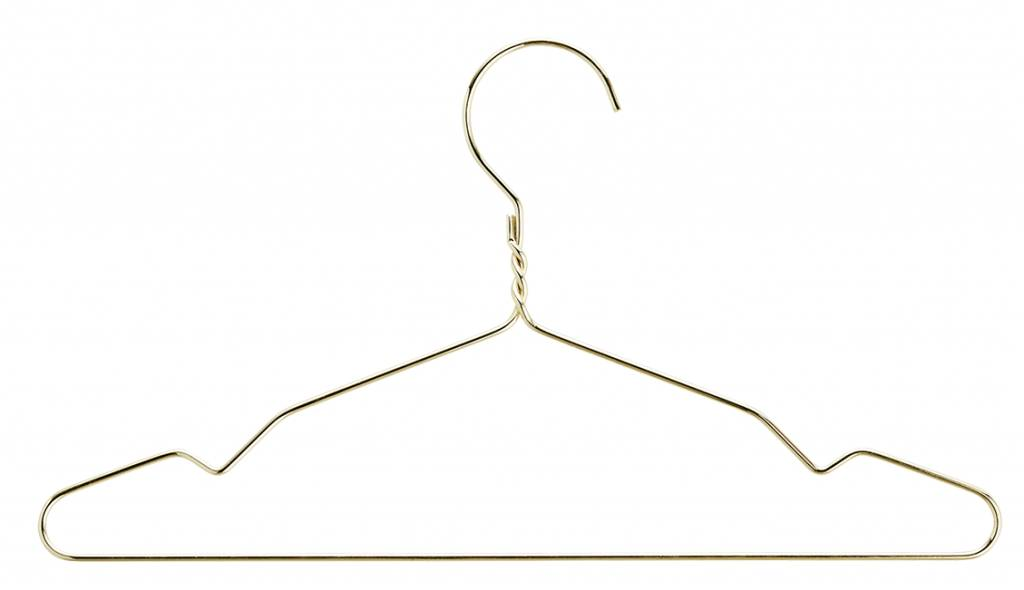 Madam Stoltz children's clothes hanger wire, gold