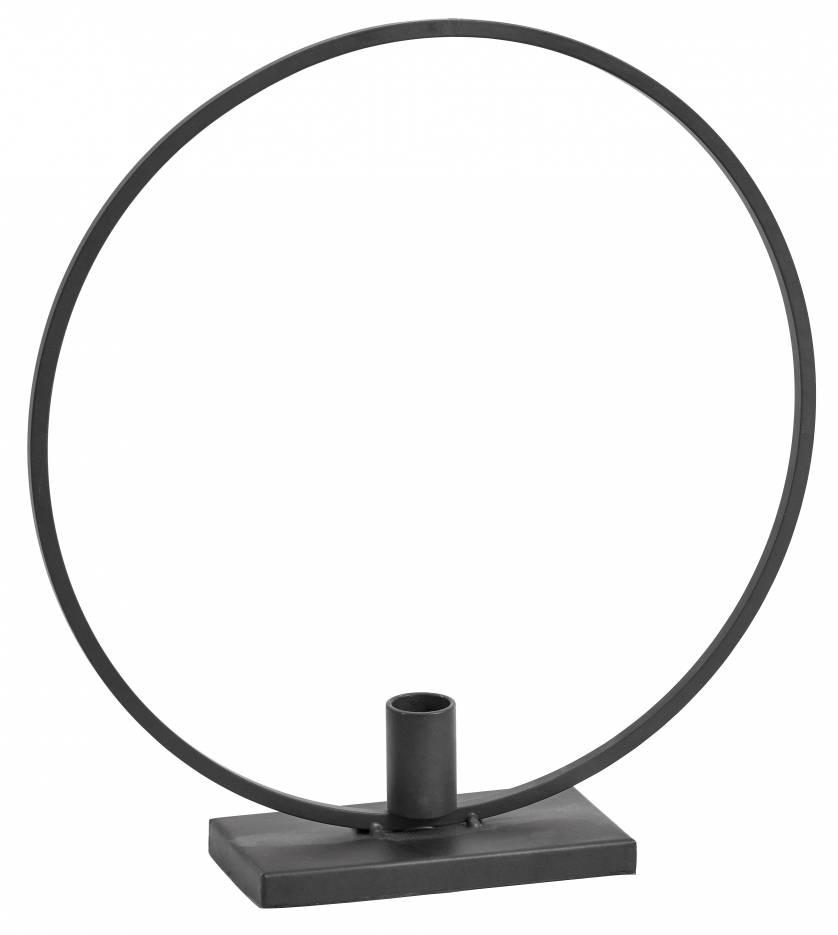Nordal zwart metalen kandelaar Circle