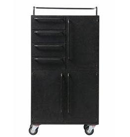 BePure metal cabinet Black Beauty, black