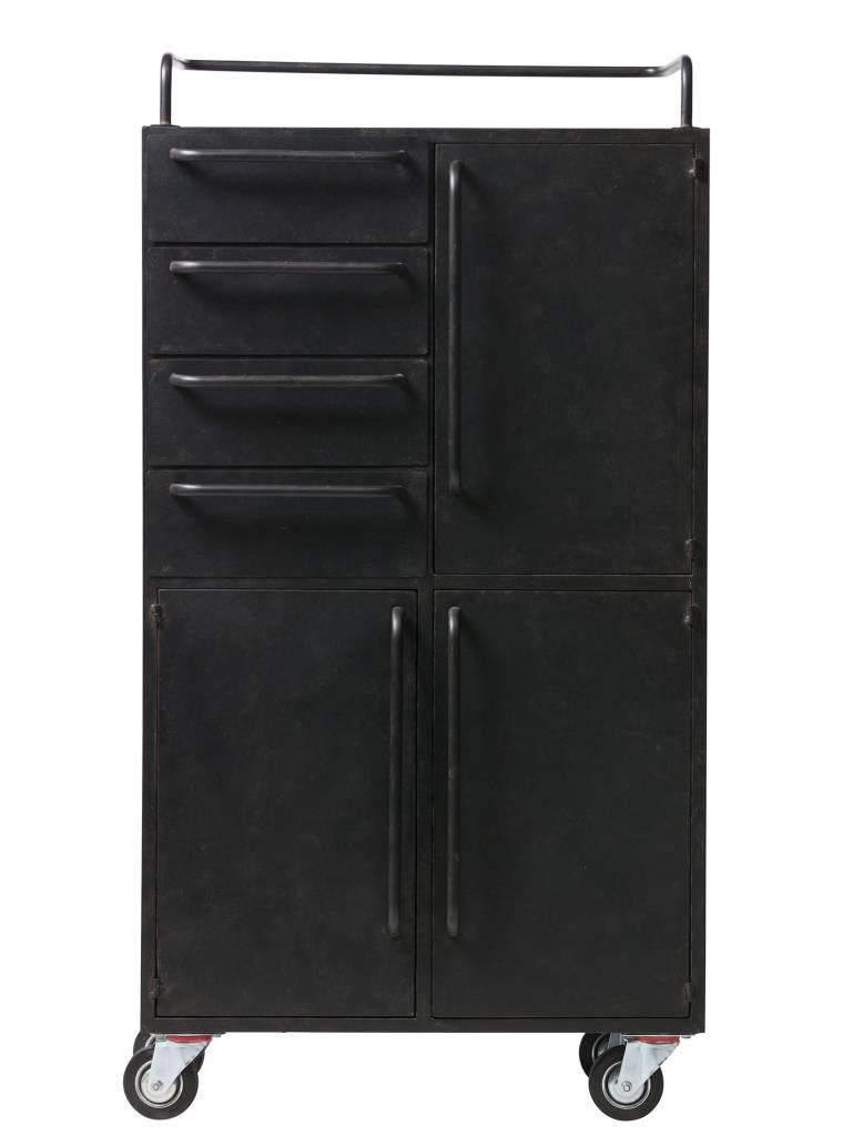 BePure metalen kastje Black Beauty, zwart