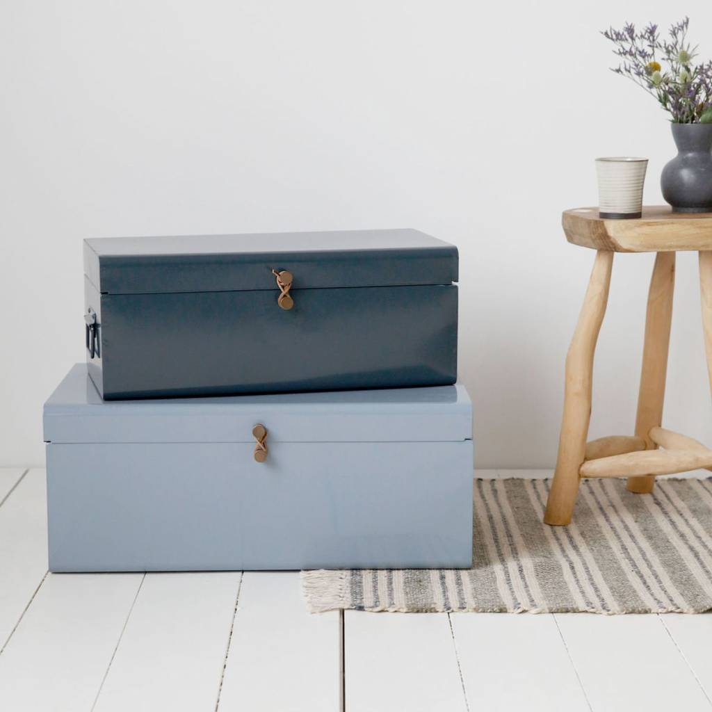 House Doctor set storage boxes Metal, light blue and blue