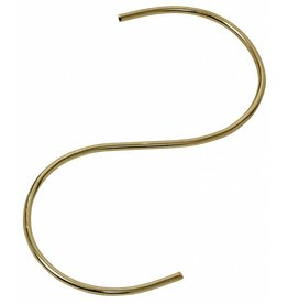 Nordal hook, S-shape, gold