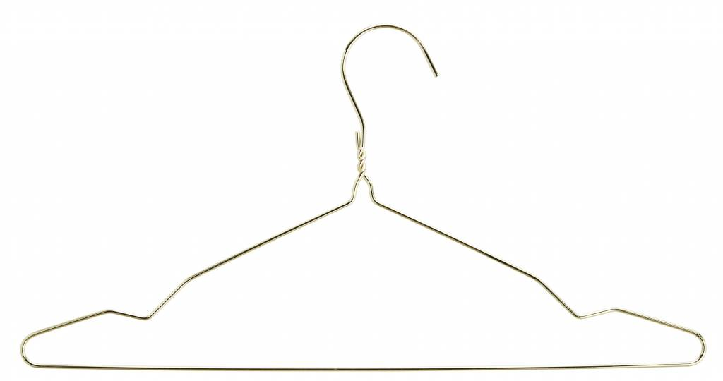 Madam Stoltz clothes hanger wire, gold