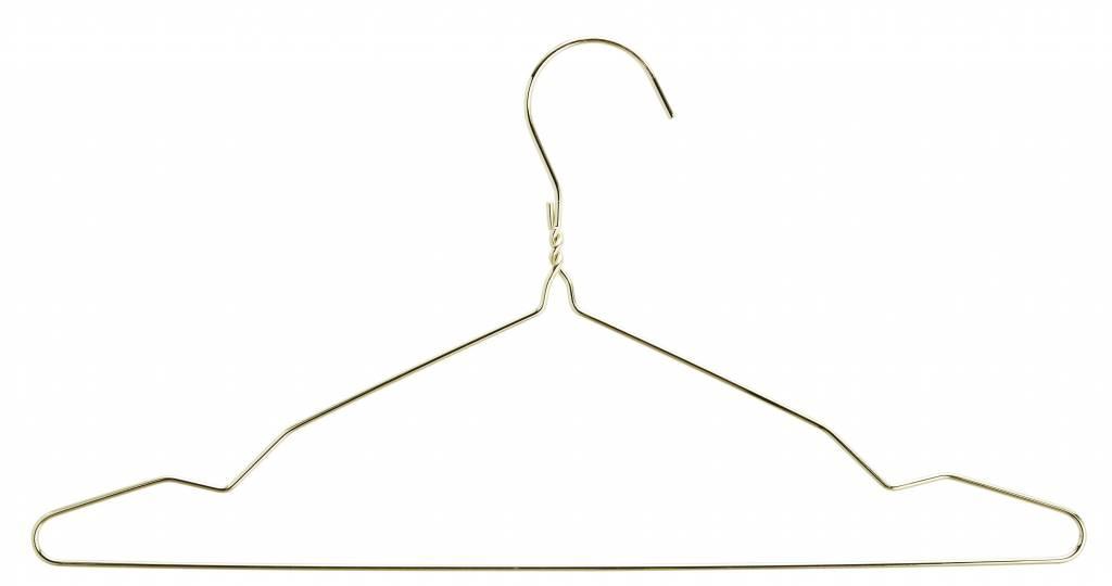Madam Stoltz kledinghanger draad, goud