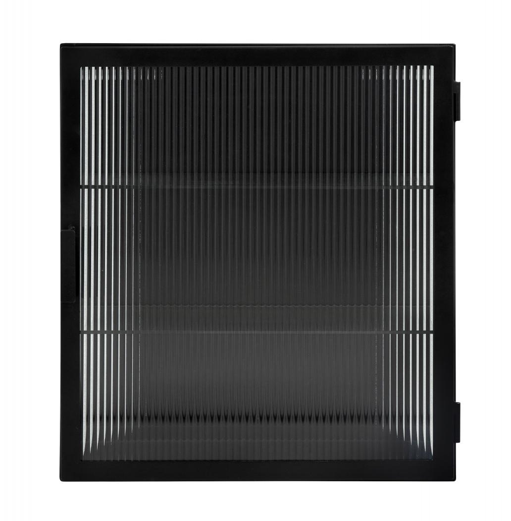 Nordal cupboard Groovy, black