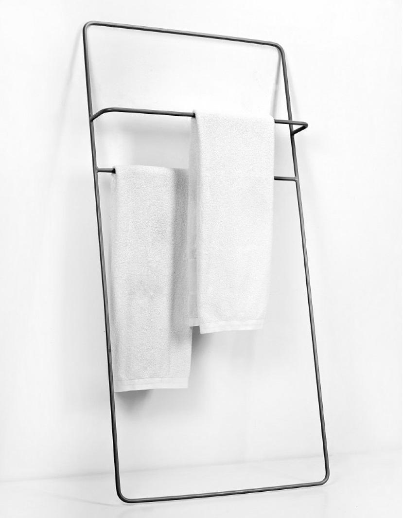 Serax handdoekrek Juno  laag, zwart