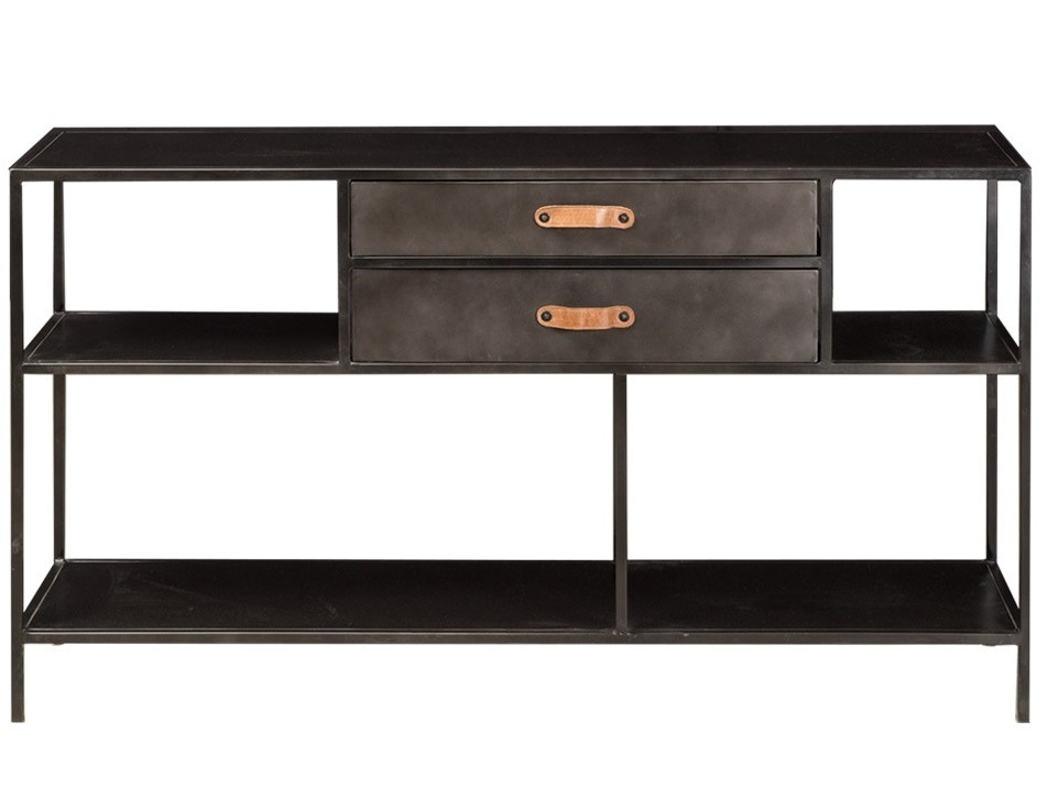 New Routz low metal cabinet Marnix, dresser with 2 drawers, black