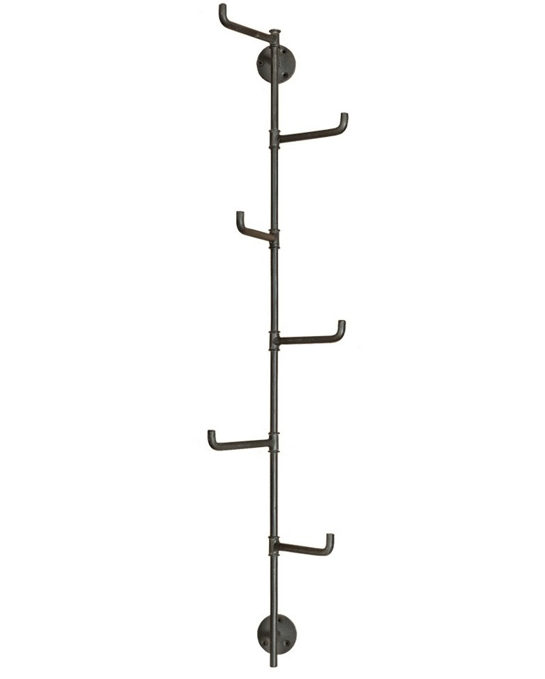 New Routz Kody coat rack with 6 hooks, dark metal