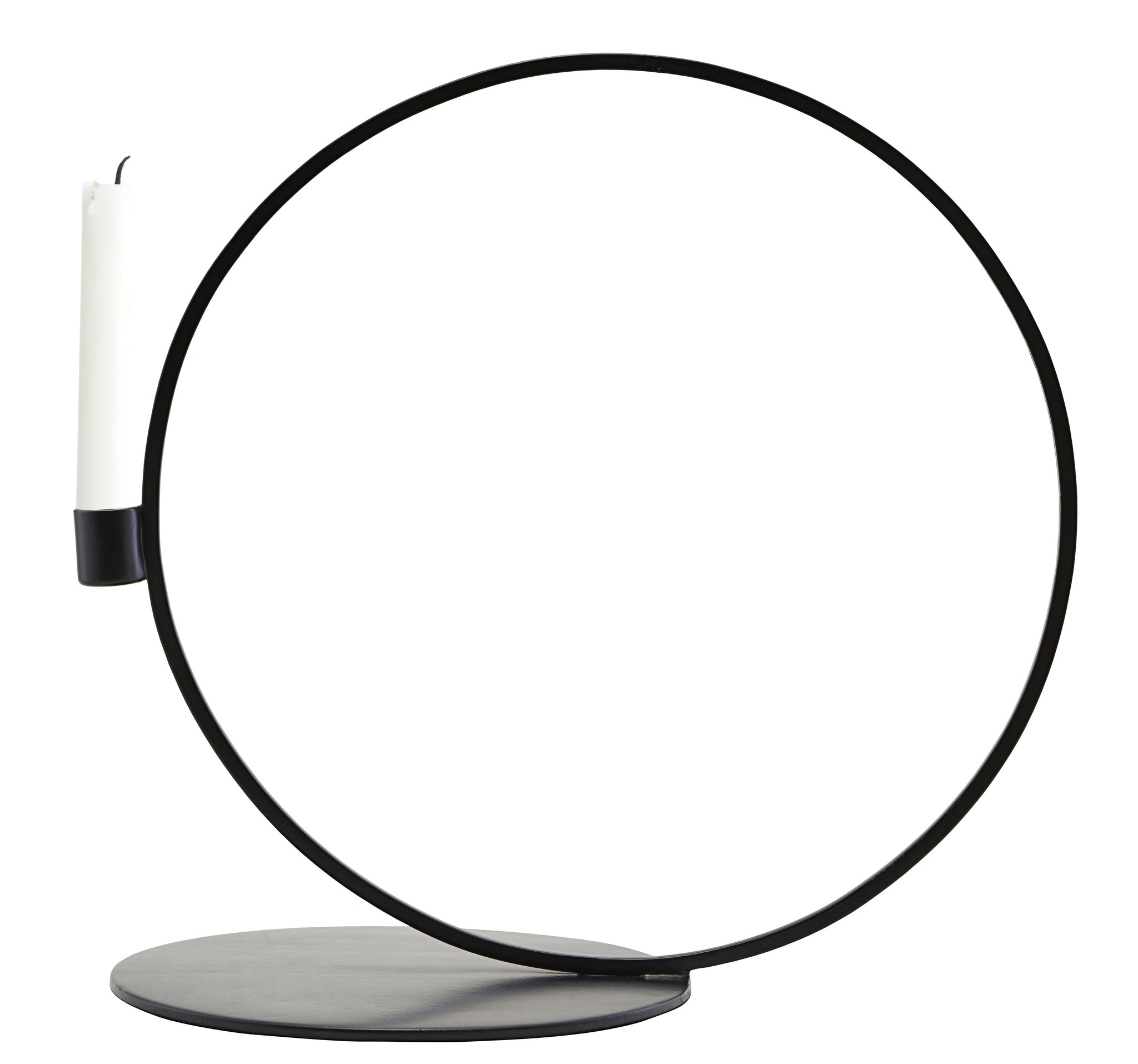 House Doctor candlestick Cirque, round, black metal