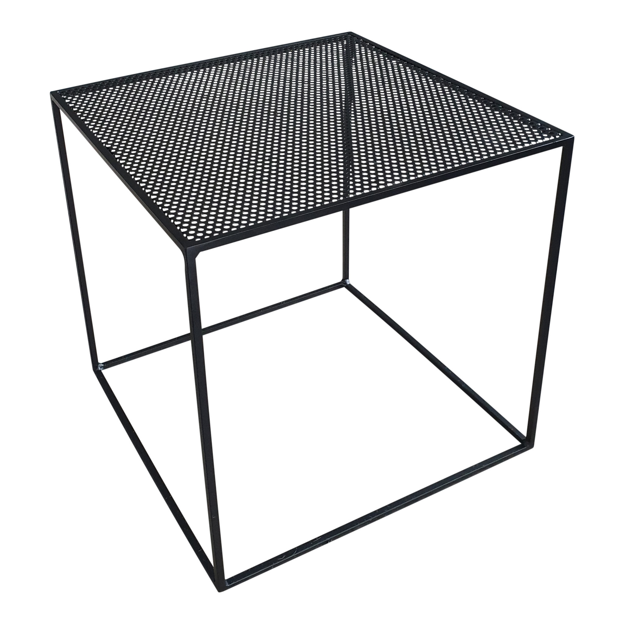 Stoer Metaal side table Juut, black