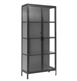Nordal cupboard Glace, black