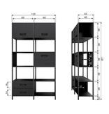 BePure cupboard Legacy, black