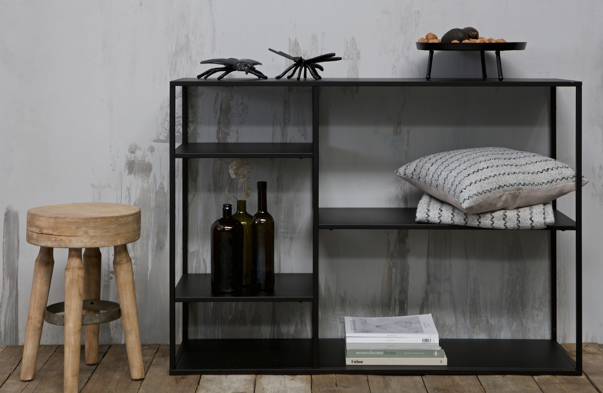 Woood side-table s June, black