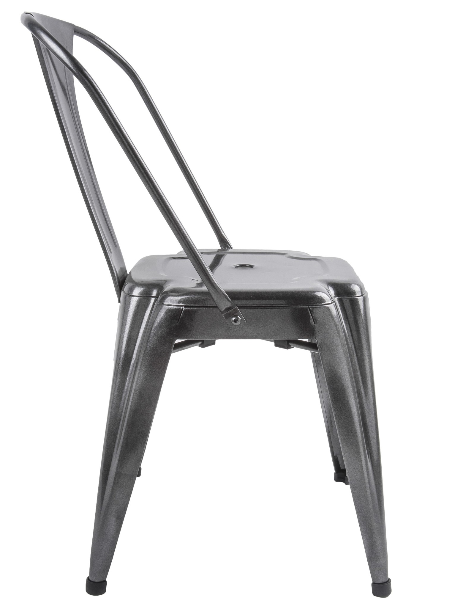 Present Time Dazzle dining room chair, black metal