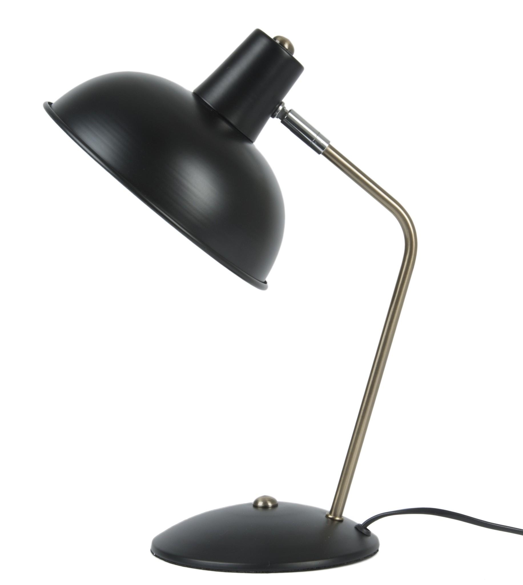 Leitmotiv tafellamp Hood, zwart