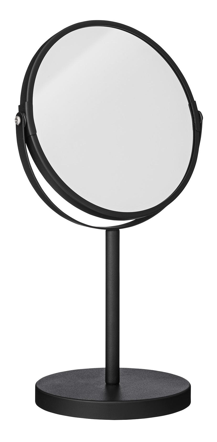bloomingville spiegel met standaard, zwart metaal