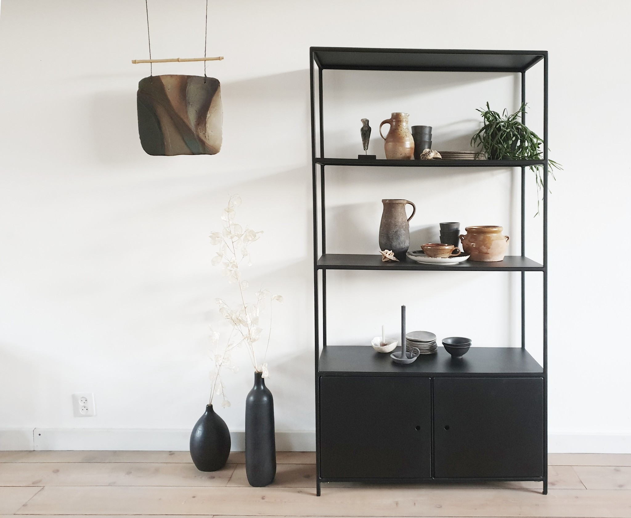 Stoer Metaal iron cabinet shelving unit Mannes, black