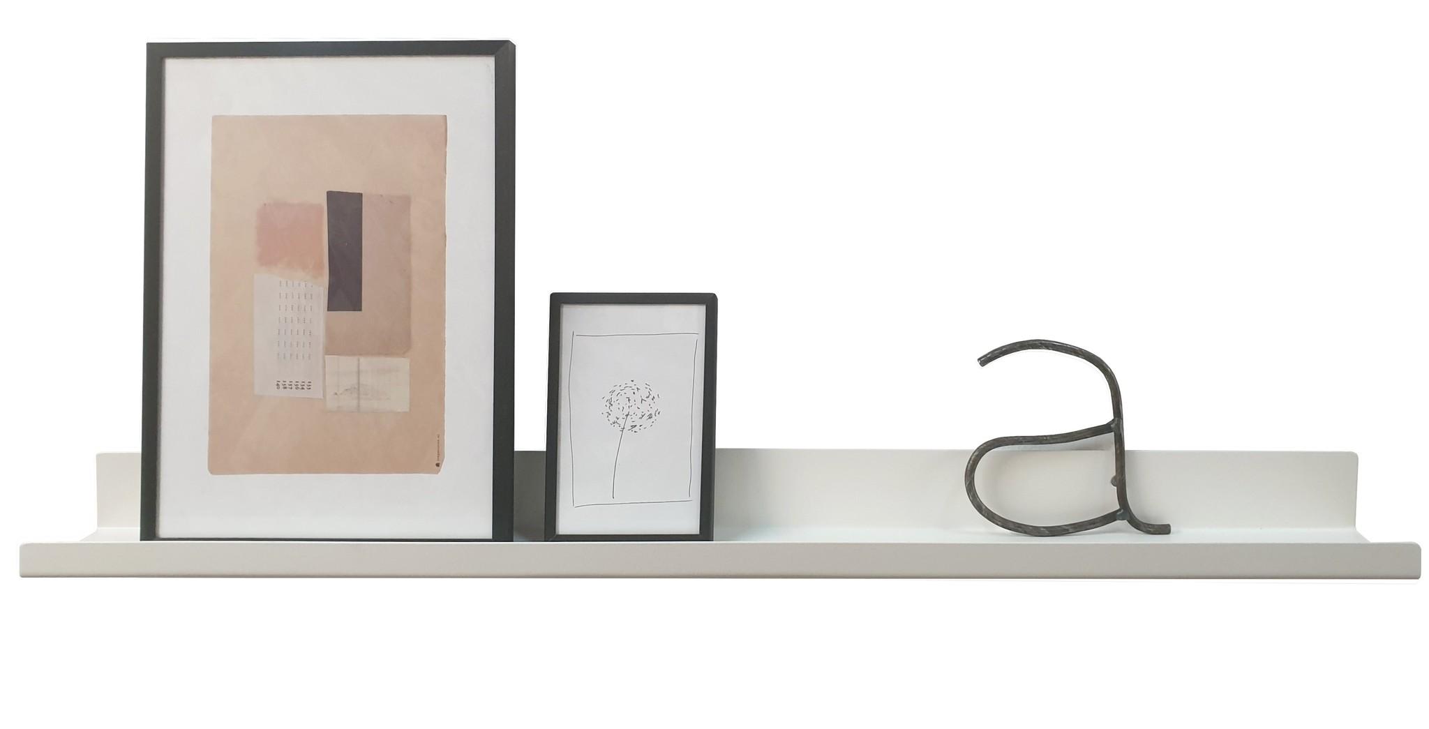 Wandplank Met Haakjes.Stoer Metaal Witte Wandplank Of Planchet Metalen Wandplank Wit