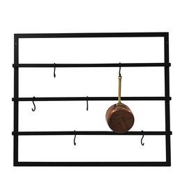 Stoer Metaal Miyo wall rack, black