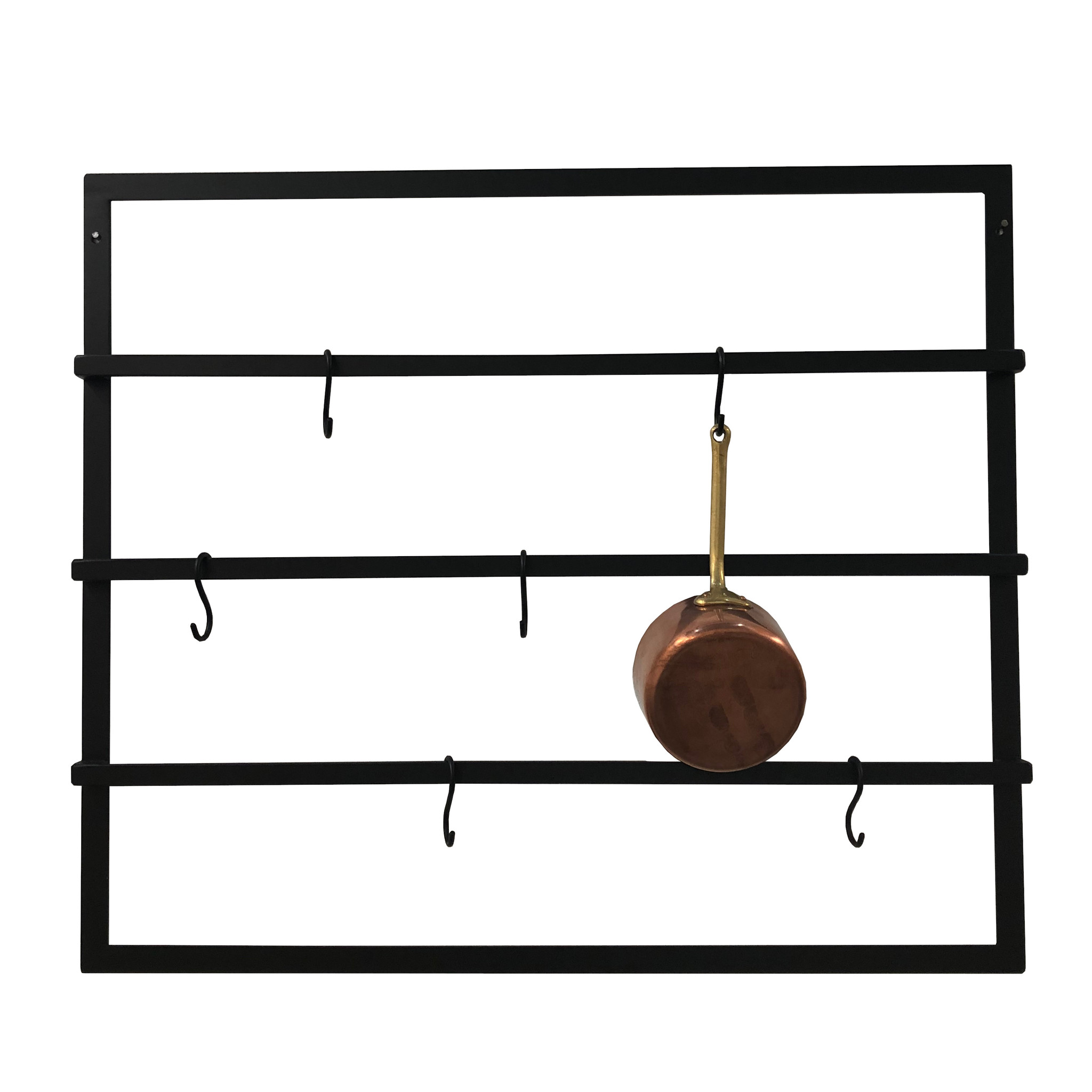 Stoer Metaal Miyo wall rack, black metal