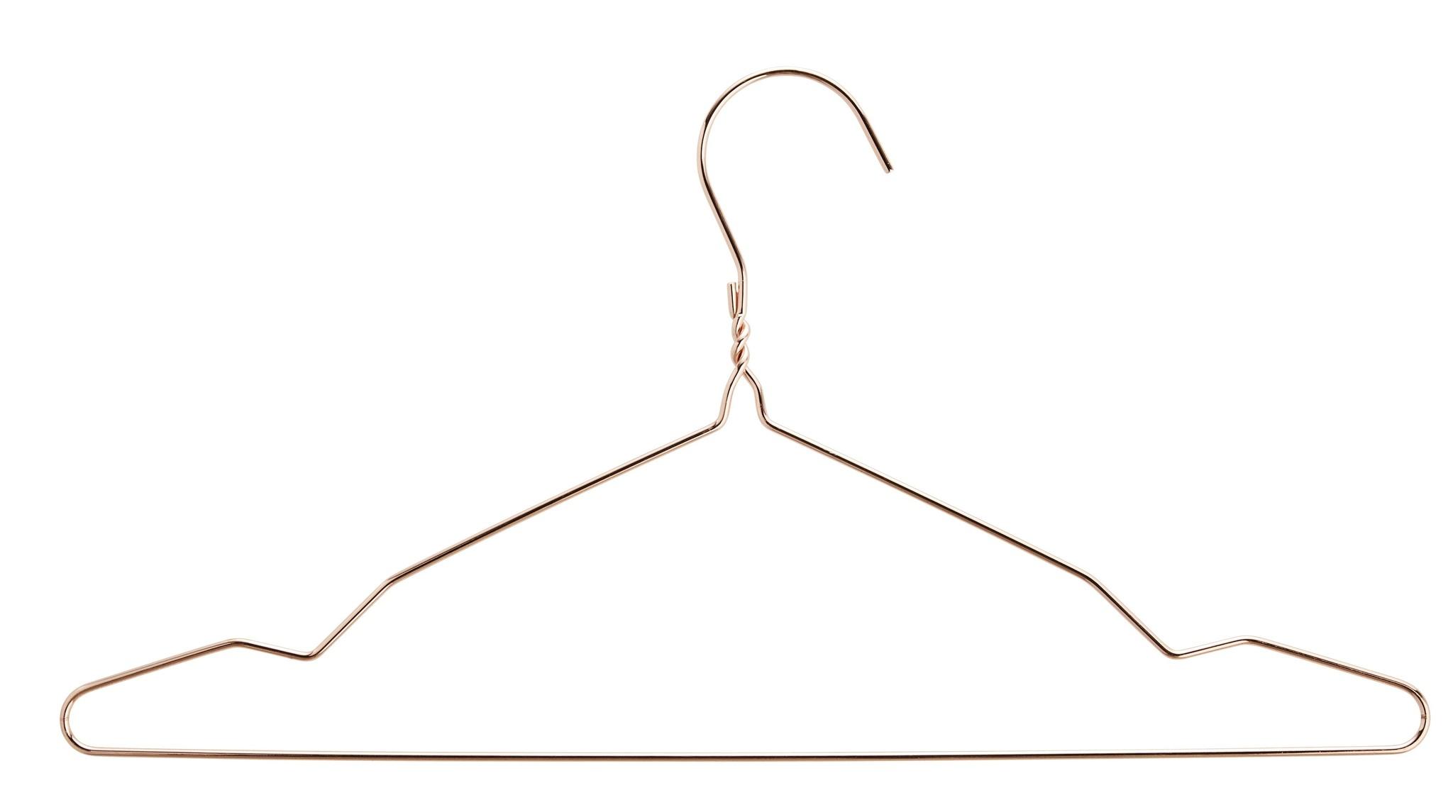 Madam Stoltz kledinghanger draad, koper