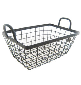 Iron wire basket with handles
