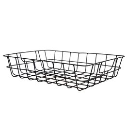 Low iron wire basket