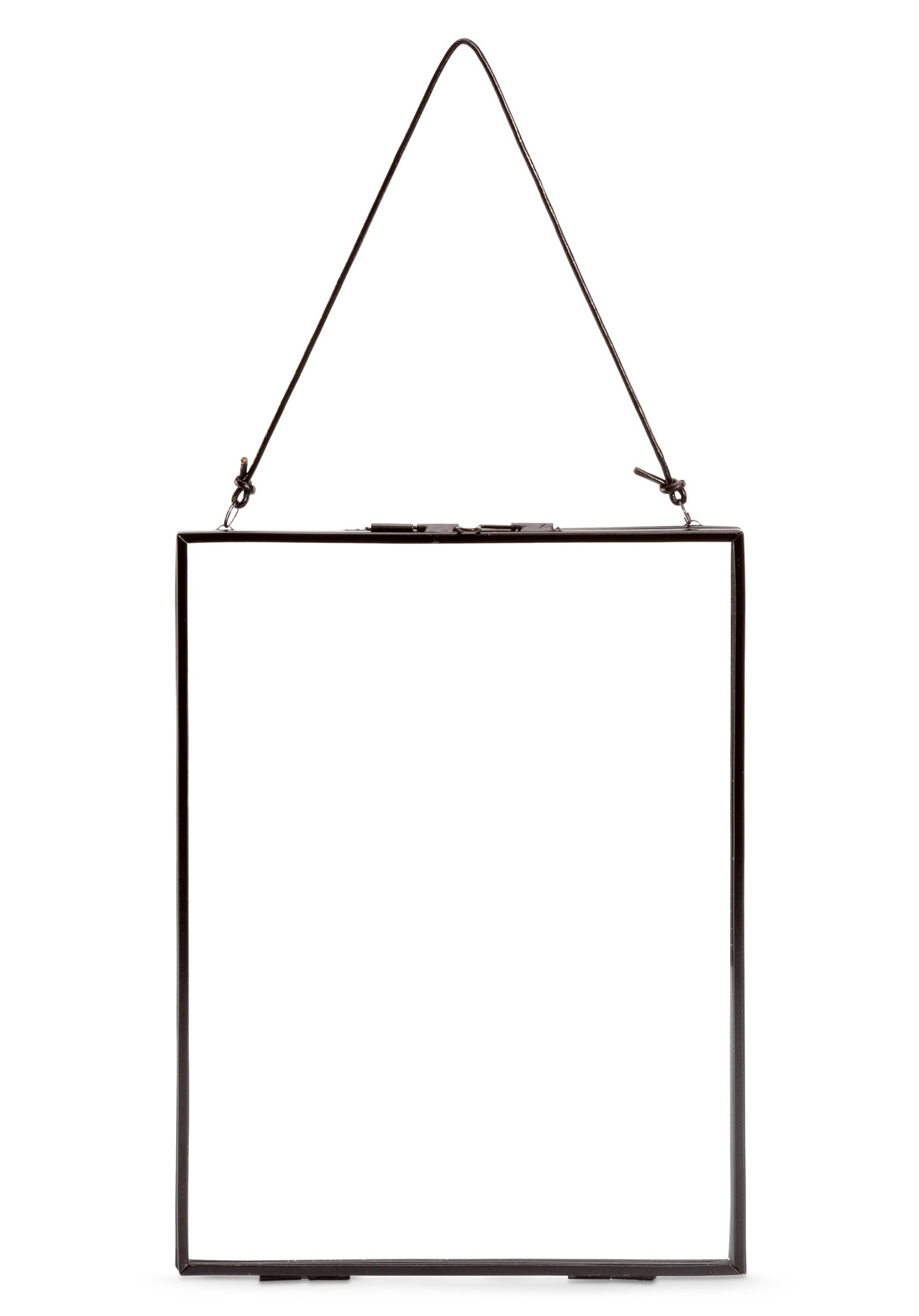 vtwonen iron frame photo frame, 30x40, with leather cord