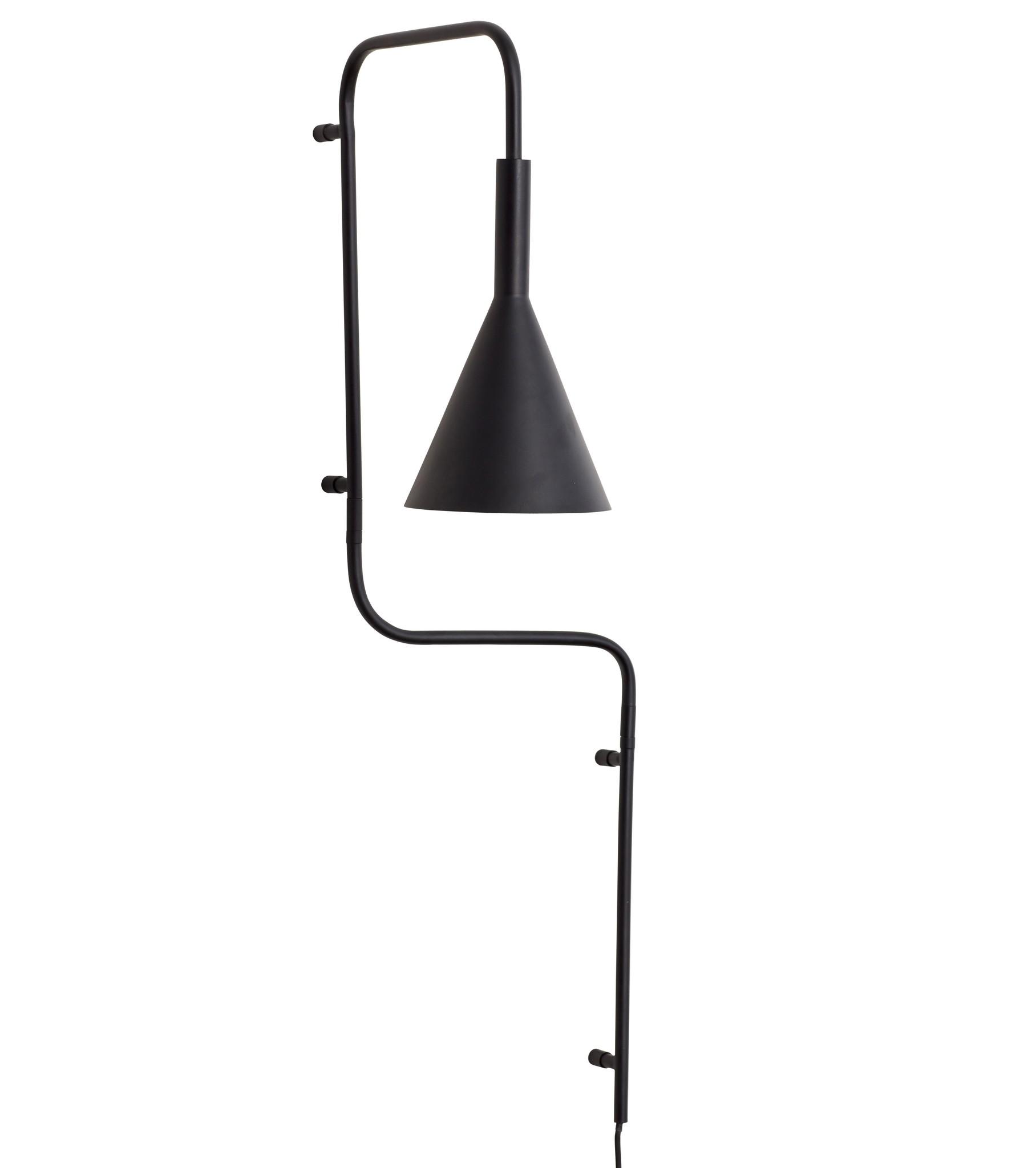 Hübsch wall lamp, black