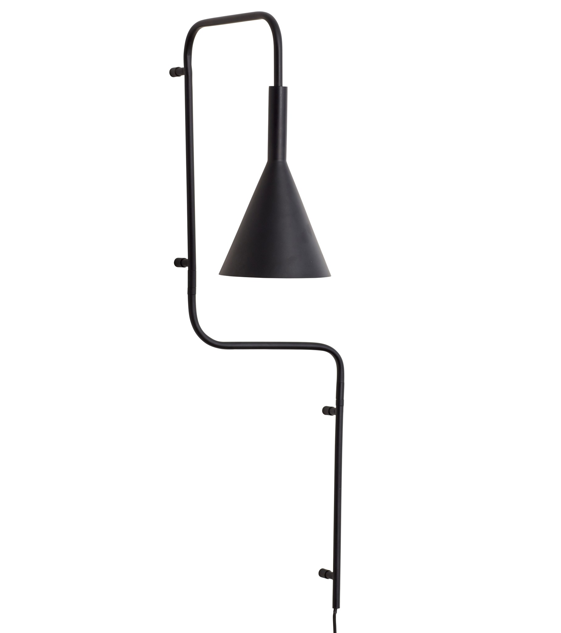 Hübsch wandlamp, zwart