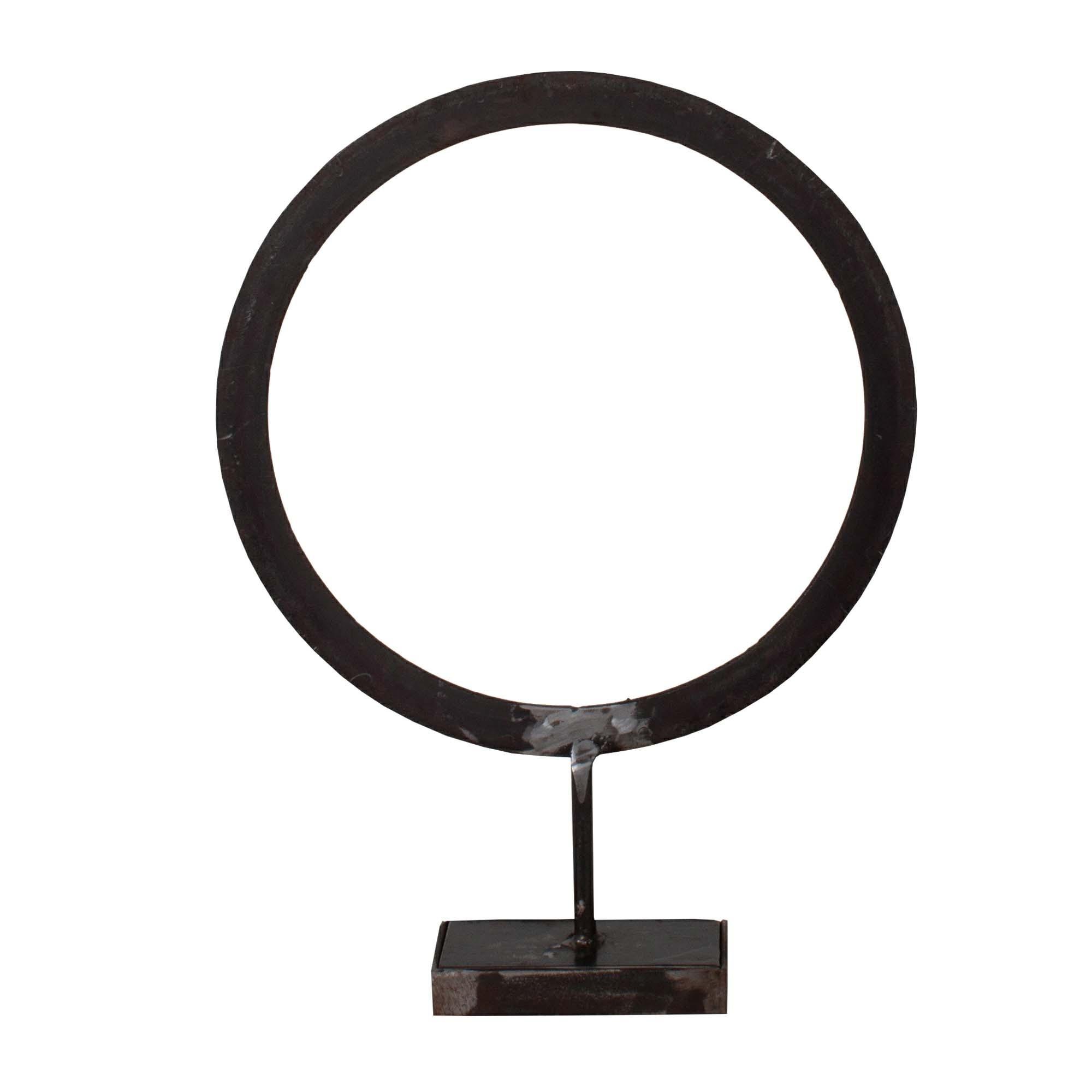 New Routz metalen beeld, deco Circle