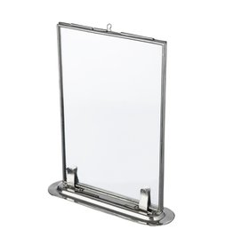 Madam Stoltz frame, standing, 10x15, silver