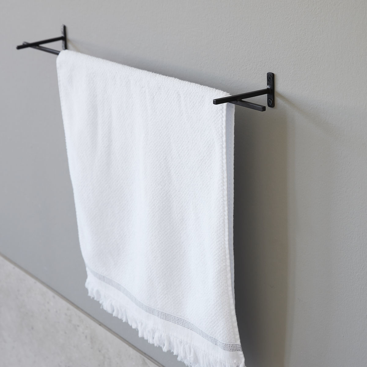 House Doctor metal kitchen bar, towel bar, Add, black
