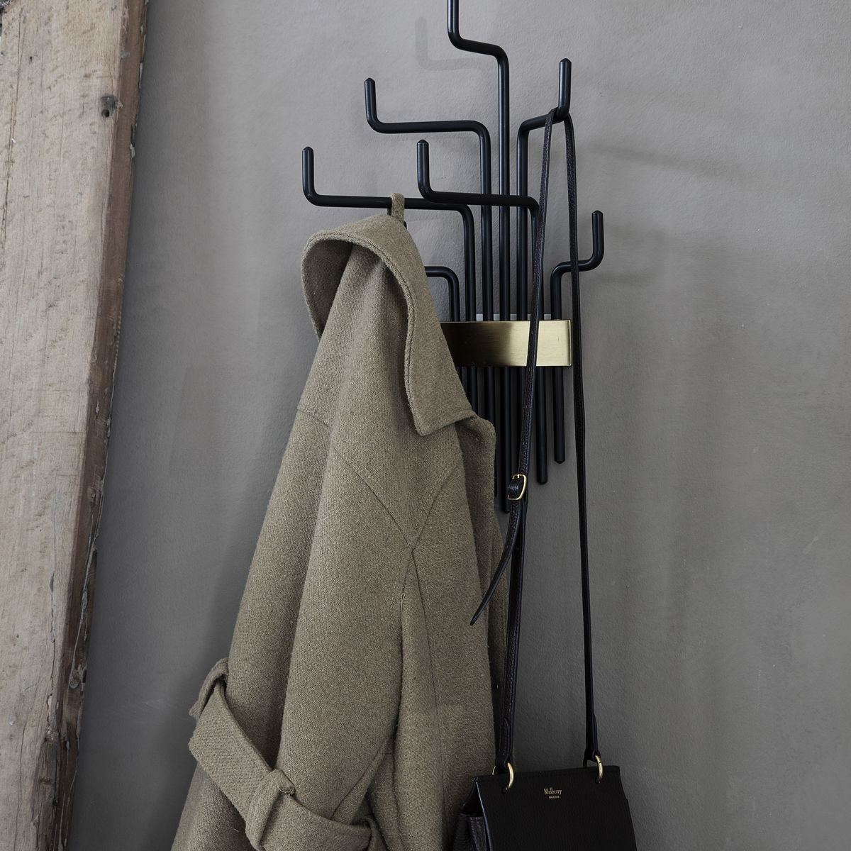 House Doctor coat rack, Pipes, black