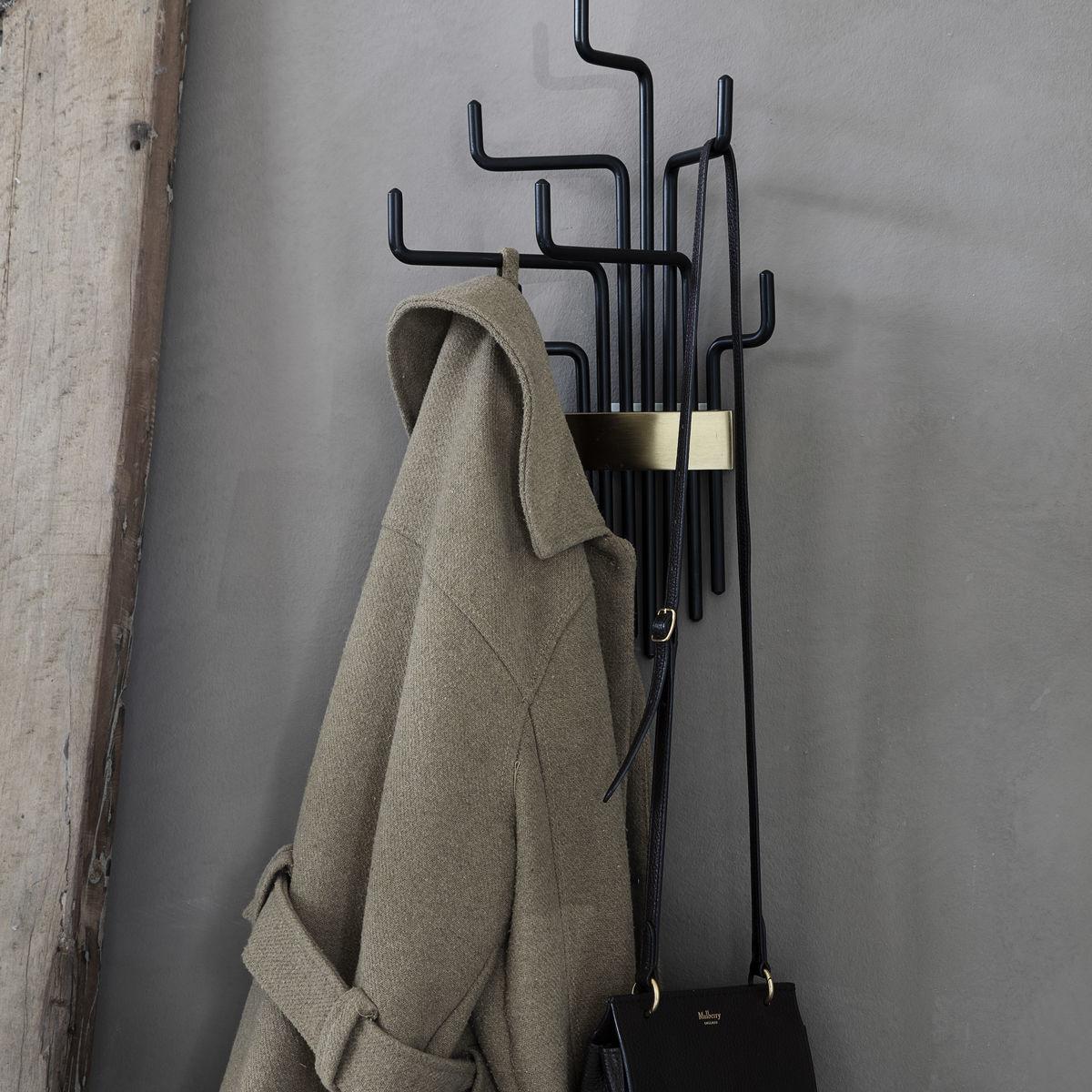 Society of Lifestyle coat rack, Pipes, black