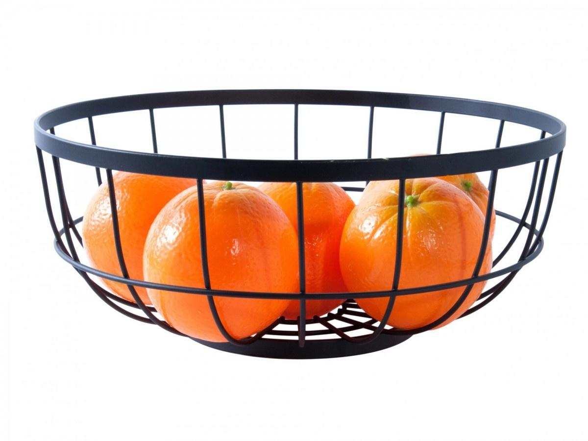 Present Time fruit basket Grid, black
