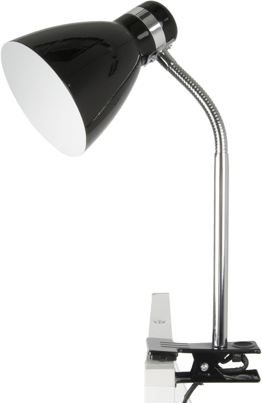 Leitmotiv clamp lamp table lamp Clip on Study, black