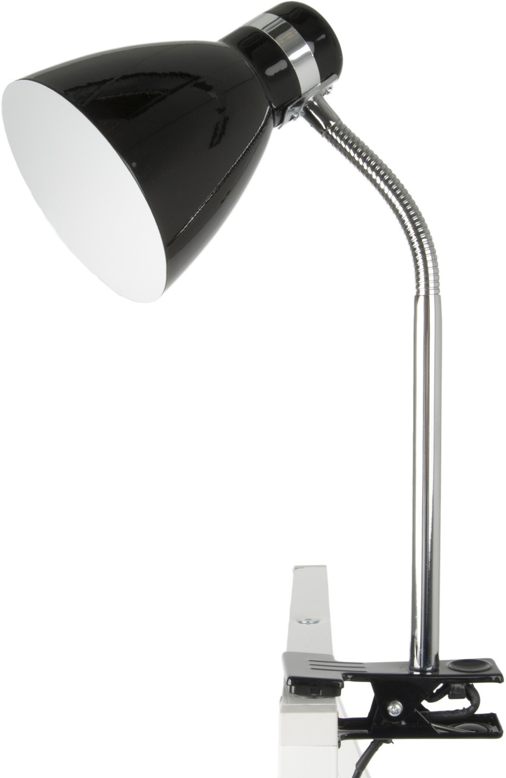Leitmotiv klemlamp tafellamp Clip on Study, zwart