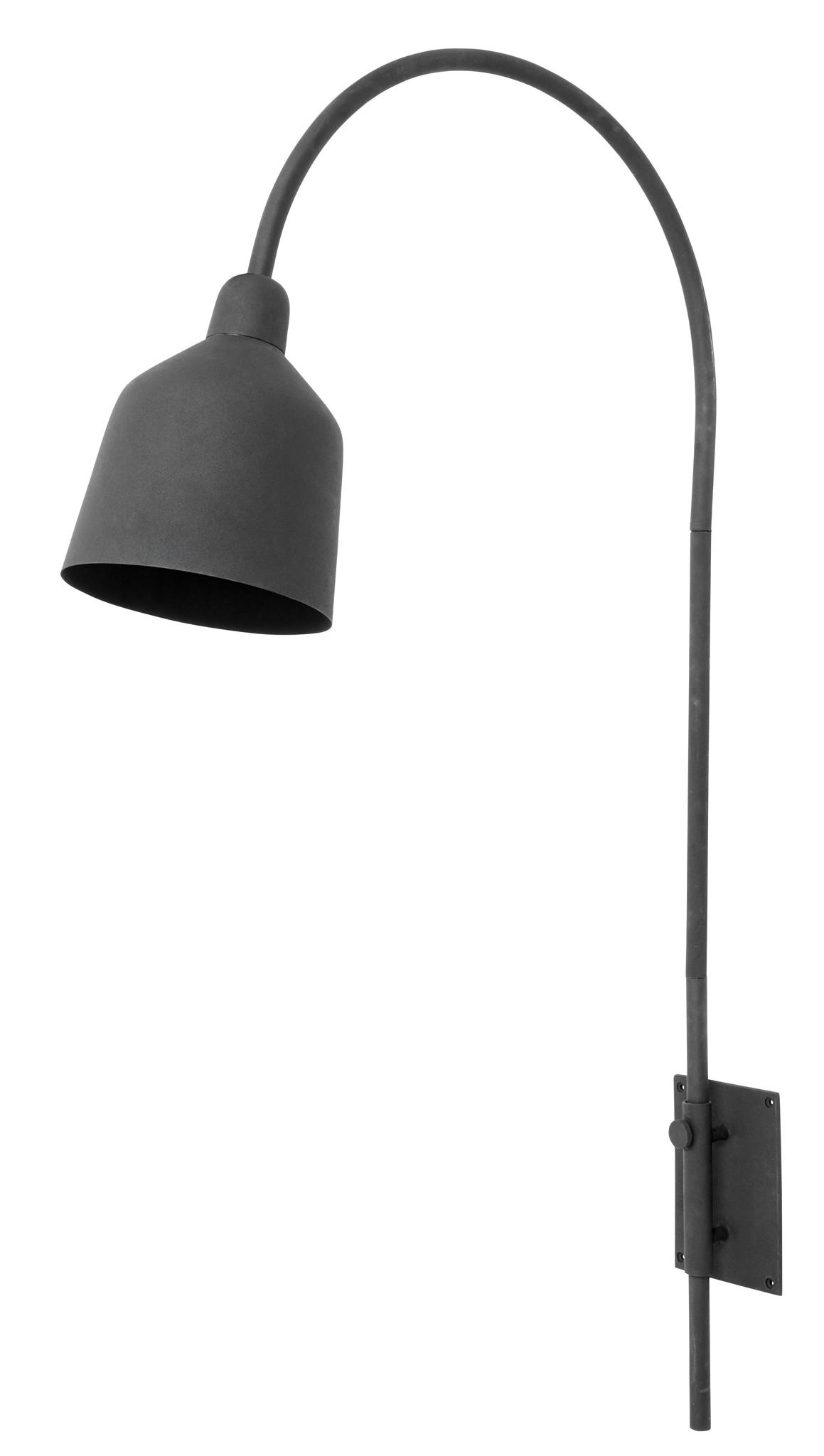 Nordal wall lamp City, black