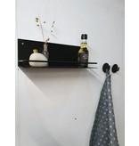 Stoer Metaal wall shelf Stang,  black
