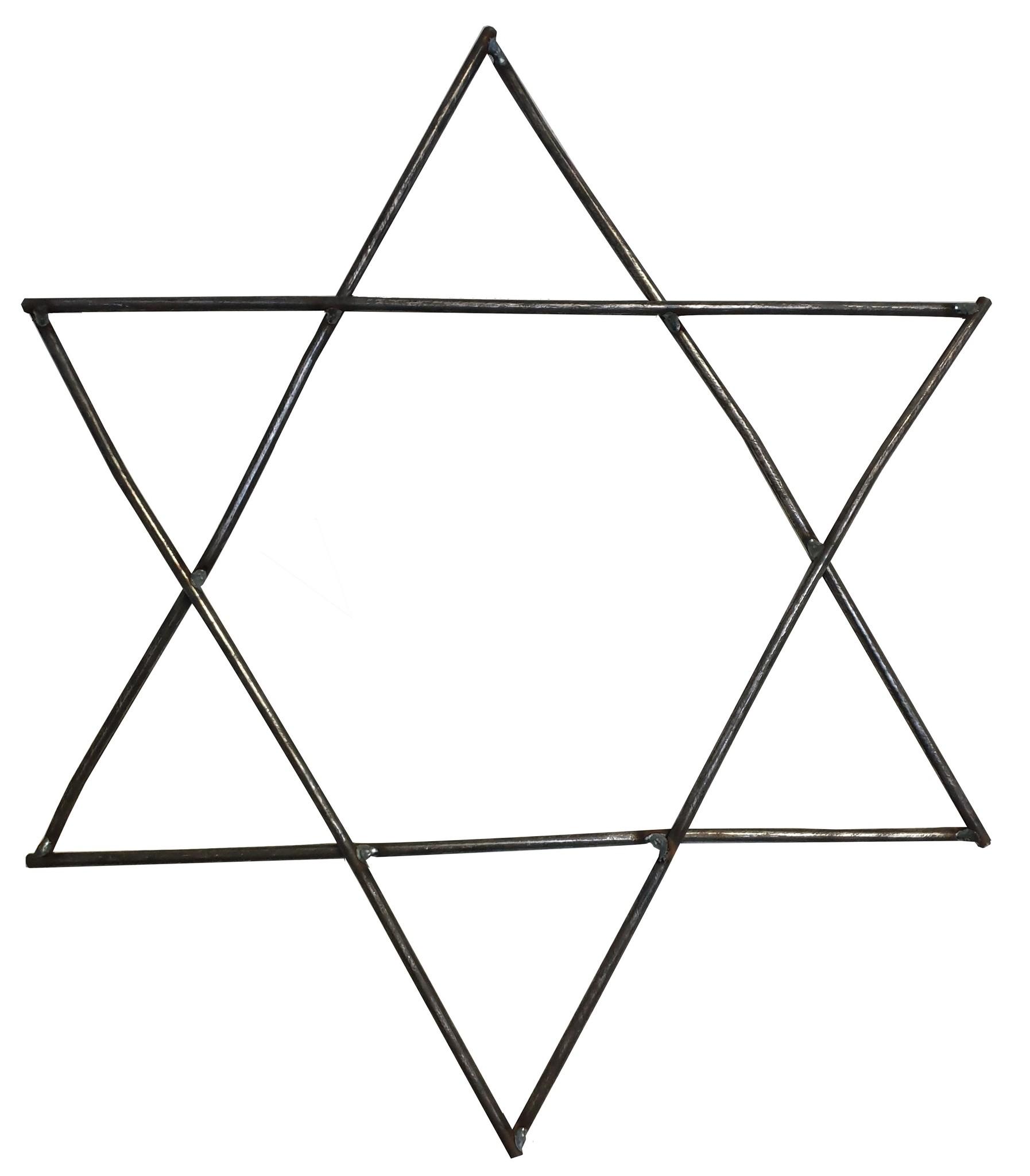 Stoer Metaal ijzeren ster, metalen ster Knick, metaal