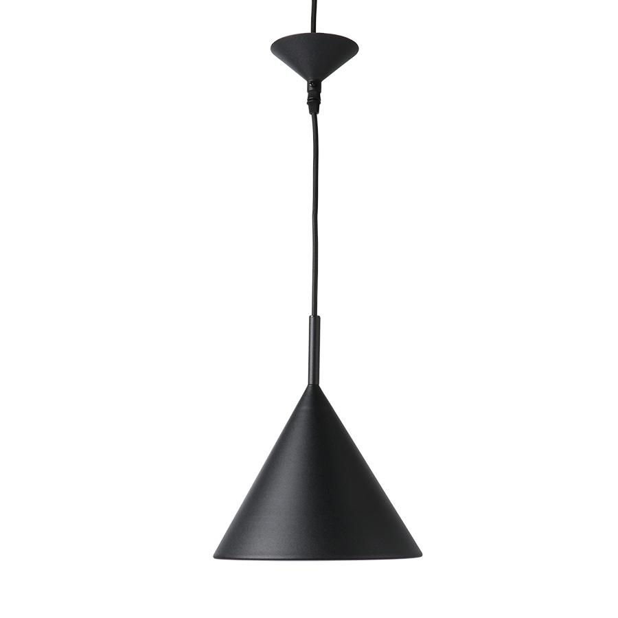 HK Living metalen hanglamp Triangle M, matzwart