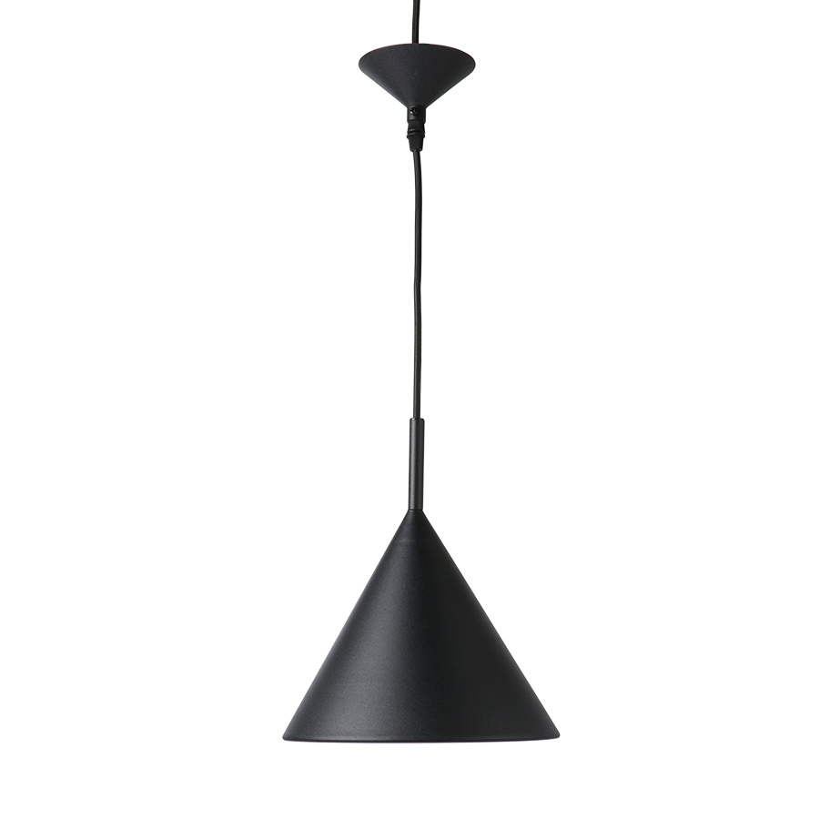 HKliving metalen hanglamp Triangle M, matzwart